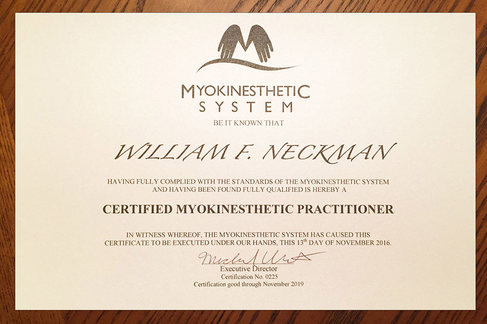 certified myokisthetic practitioner
